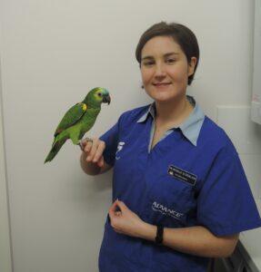 Dr Michelle Sutherland -Avian vet