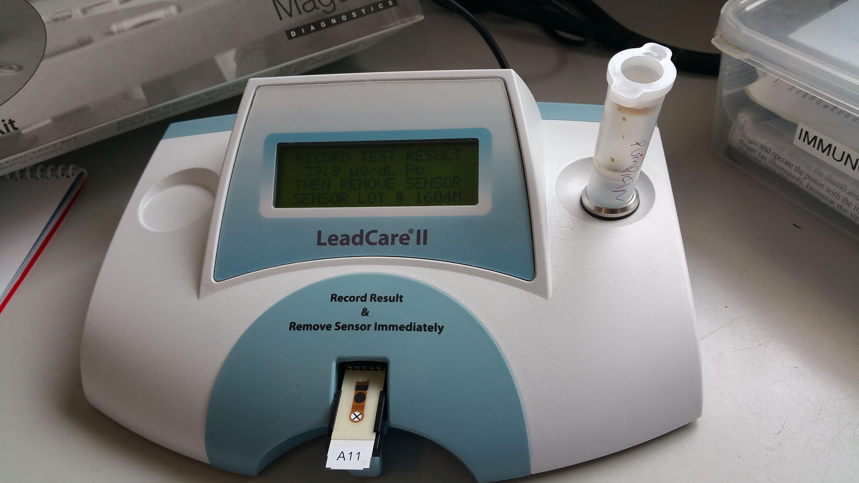 Lead testing in birds